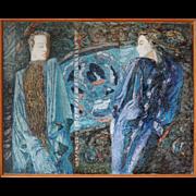 Mannequins vintage avant-garde Russian painting by Sergei Bleze