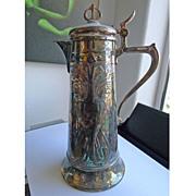 Beautiful Antique Art Nouveau Silver Plated WMF Claret Jug - Circa 1900