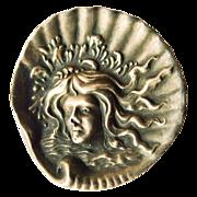 Antique Sterling Silver Art Nouveau Brooch - Circa 1900