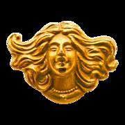 Antique Gold Filled Art Nouveau Brooch/ Pin - Circa 1900