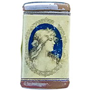 Antique Advertising Match Safe (Vesta) Woman - Circa 1890