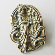 Antique Art Nouveau Sterling Top Brooch - Circa 1900