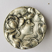 Unger Bros Sterling Silver Antique Art Nouveau Brooch - Circa 1900