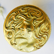 Brooch - Gold Filled Antique Art Nouveau - Dated 1903