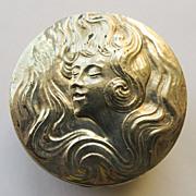 Pill Box - Antique Silver Plated Art Nouveau Circa 1900