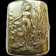 Case/Box Nude Woman - Gorham Antique Sterling Silver Art Nouveau  - Circa 1900