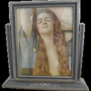 Antique Picture Frame - Art Nouveau Wood - Circa 1895