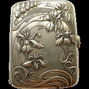 Cigarette/Card Box - Magnificent Antique French Art Nouveau Sterling Silver - Circa 1900