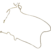 "Vintage 14kt Gold Filled Neck Chain - 16"" - Circa 1940"