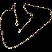 "Vintage 14kt Gold Filled Neck Chain - 17"" - Circa 1940"