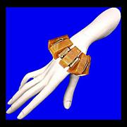 SALE ART DECO Bakelite Geometric Stretch Bracelet French Vintage 1920s