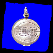 BASKETBALL 3D Danecraft Sterling Silver Charm or Pendant