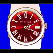 OLD ENGLAND Rare Original Richard Loftus Accurist London Pop Art Watch Vintage 1960s