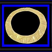 SALE NAPIER Fierce Fabulous Egyptian Style Collar Necklace Vintage 1970s Book Piece