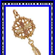 SALE 10K Gold Dream Catcher Charm or Pendant
