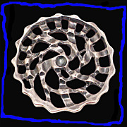 JOHANNESSEN Captivating Scandinavian Organic Mid Century Modern Sterling Silver Pin Pendant of