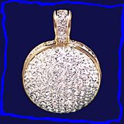 SALE Dazzling Large Swarovski Brand Vintage Austrian Crystal Ball Pendant