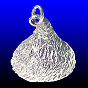 SALE HERSHEY KISS Sweetheart Large 3D Sterling Silver Charm or Pendant