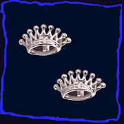 SALE CROWNS Regal Sterling Silver Cufflinks