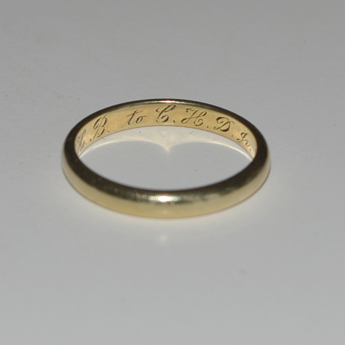 Deco Era Classic 14K Yellow Gold wedding Band 3.5 Grams