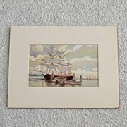 Original Nautical Painting Schooner Seascape