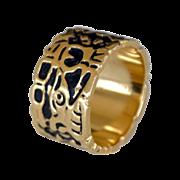 Cigar Band Ring 14k Gold 10 grams