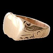 Signet Ring 14K Gold 6 Grams Ready for Monogram