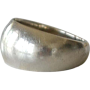 14k White Gold Band Ring