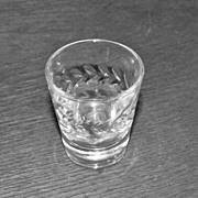 SALE Four Crystal Shot Glasses
