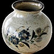 SALE Stoneware Vase Jug Butterfly Flowers