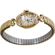 Vintage Elgin Wristwatch Gold Fill Ladies