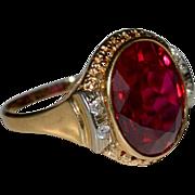 Huge  Ruby 14k Ring