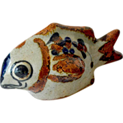 Pottery Fish Figurine Signed
