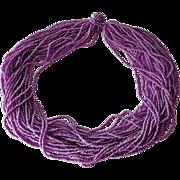 Lavender Torsade Necklace 30 Strands