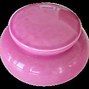 Pink  Vanity or Powder Jar Japan