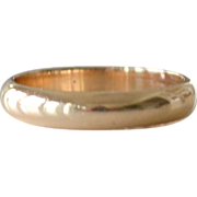 Wedding Band Ring 14k Gold 3.3 Grams