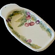 SALE Spoon Rest with Cherries Pfaltzgraff USA