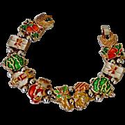 SALE Slide Bracelet with Christmas Holiday Slides