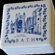 SALE Blue and White Porcelain Box Souvenir Bath England
