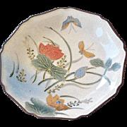 SALE Plate Japan Hand painted Butterfly Kutani Satsuma