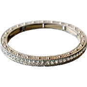 SALE Rhinestone Bangle Bracelet Channel Set