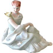 Porcelain Figurine Girl with Dove Royal Dux