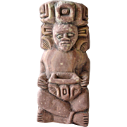 Clay Central or South American Deity Figurine