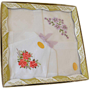 Box of Two Hankies Embroidered Switzerland