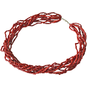 Coral Necklace 10 Strands