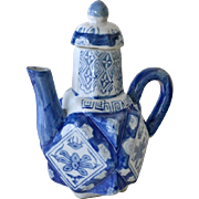 SOLD on hold Chinese Teapot Blue and White