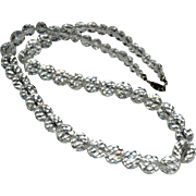 Necklace Quartz Rock Crystal Faceted Beads