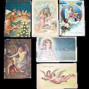 SALE Six Angel Postcards Christmas and Easter
