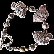 Bracelet Carved birds Jasper