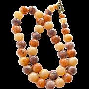 Necklace Huge Amber Like Beads